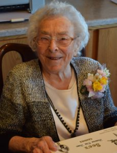 Picture of Mary Lincoln on her 104th birthday.