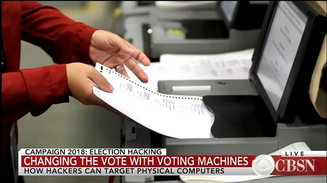 CBS Voting Machine Hacking