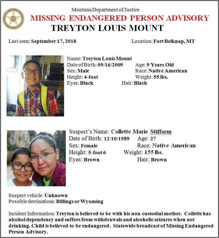 UPDATE: Missing Fort Belknap boy found safe