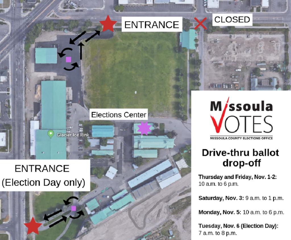 Drive thru ballot drop off