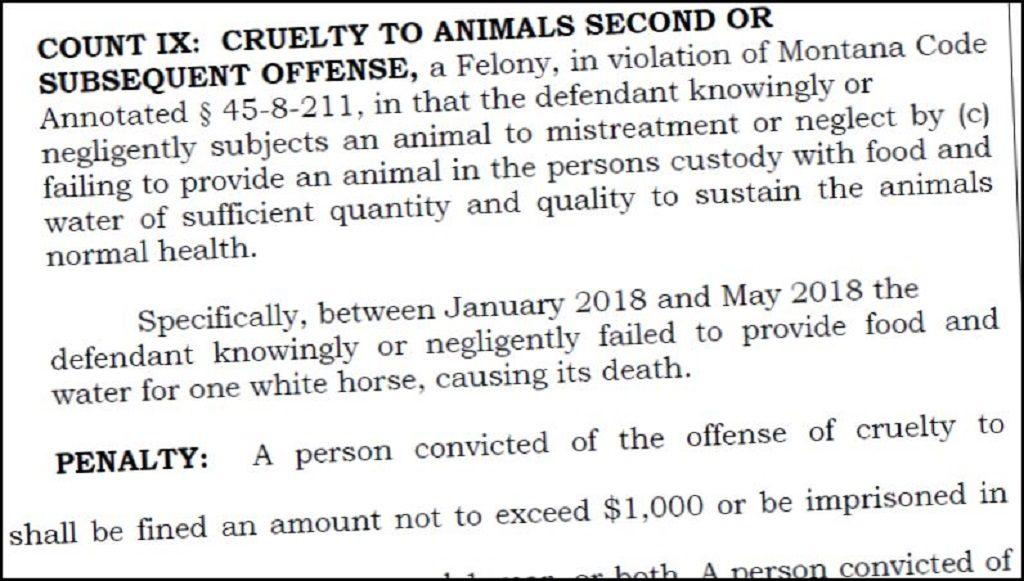 Fergus County Animal Cruelty