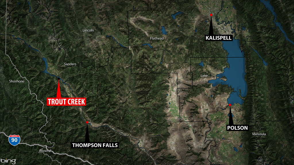 Trout Creek Shooting Map