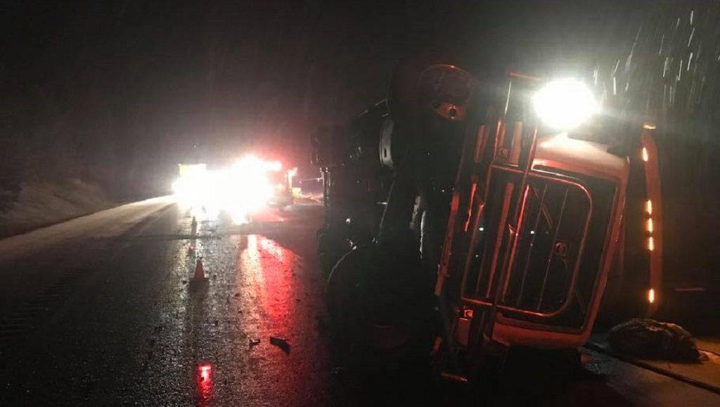 I-90 Huson Semi Truck Accident
