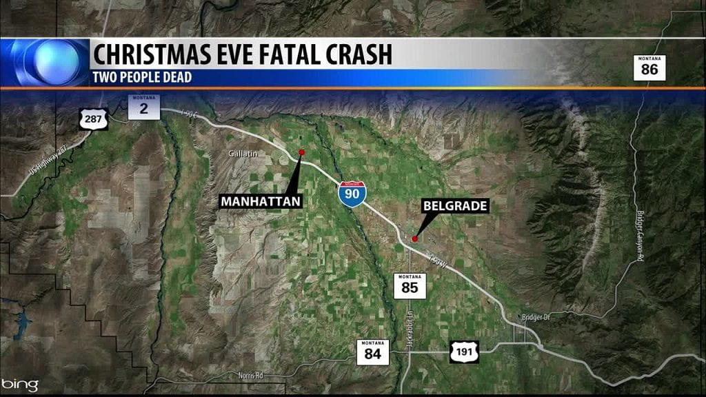 I-90 Double Fatal Accident Map