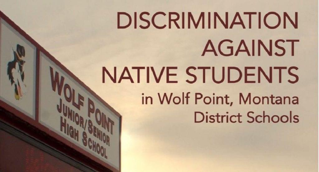 Wolf Point School Discrimination