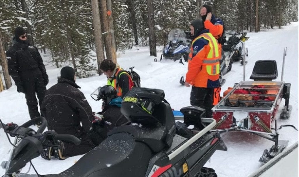 West Yellowstone Snowmobile Crash