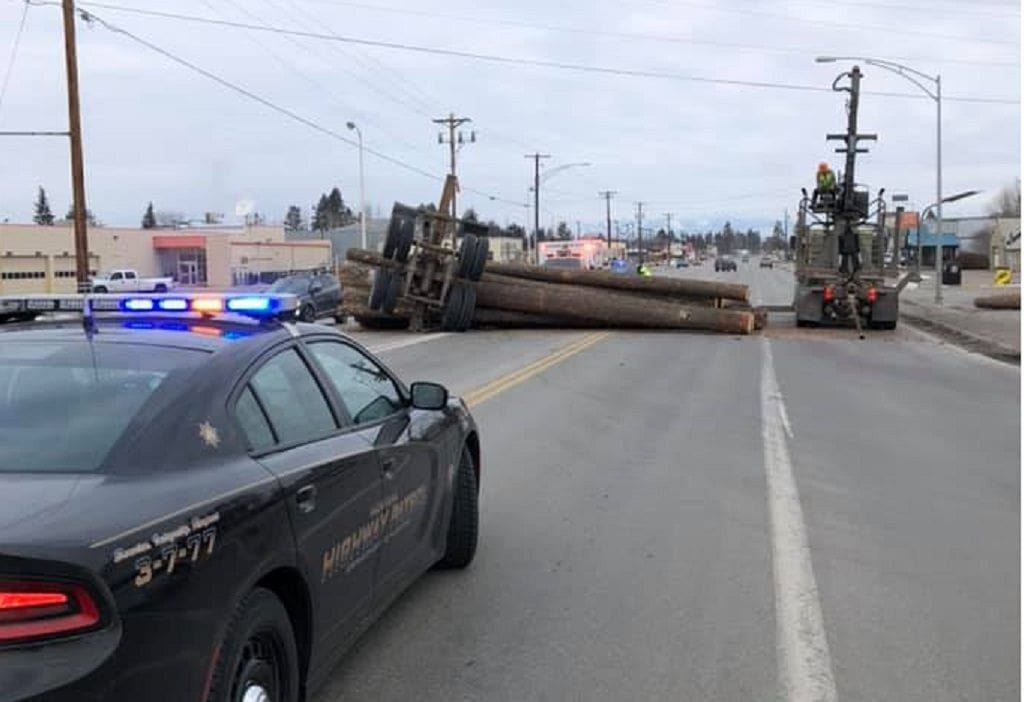 Evergreen Logging Truck Accident