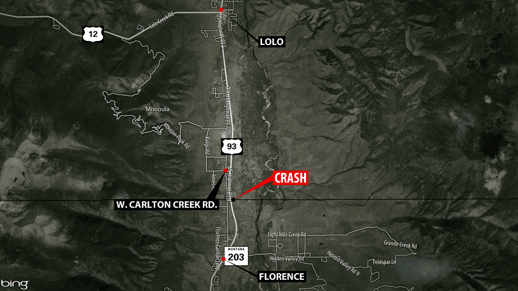 UPDATE: Highway 93 crash south of Lolo cleared
