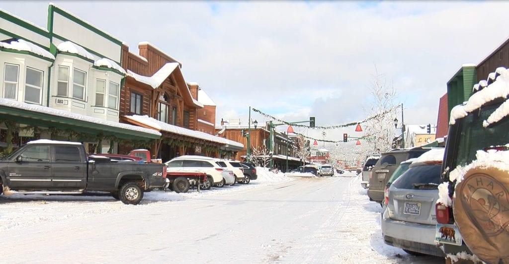 Downtown Whitefish Winter