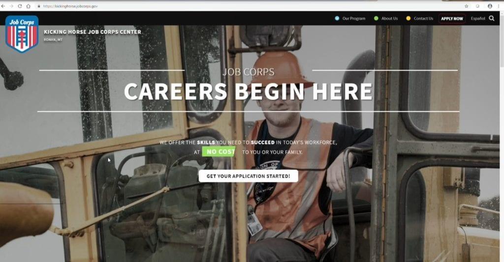 Kicking Horse Job Corp Center Website