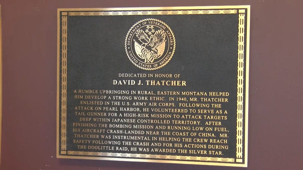 David Thatcher VA honor