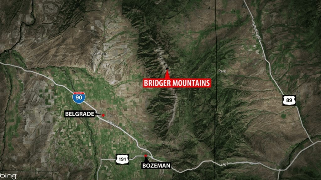 Bridge Mountains Avalanche Map