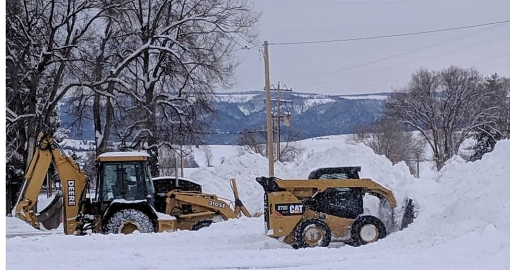 Lone Rock School Snow Cleanup