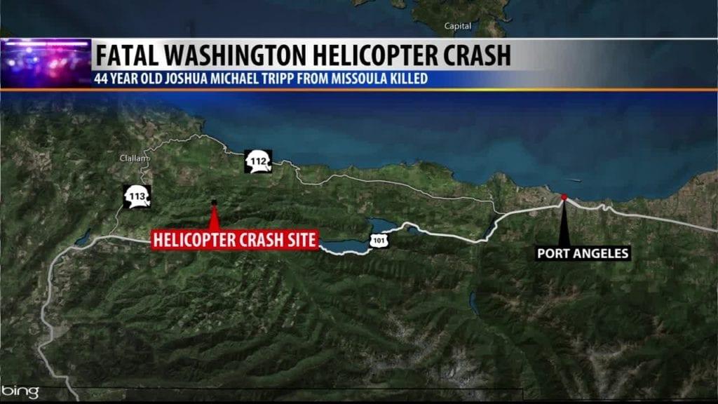 WA Helicopter Crash Map