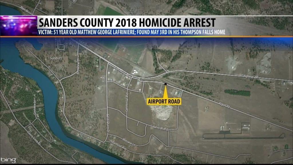 Thmopson Falls Murder Map