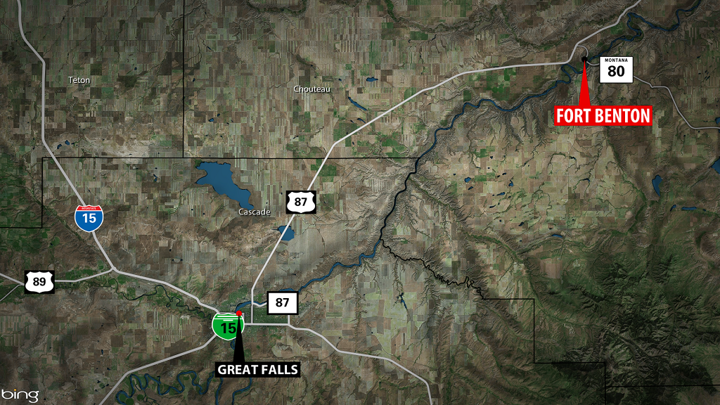 Fort Benton Fatal Accident Map
