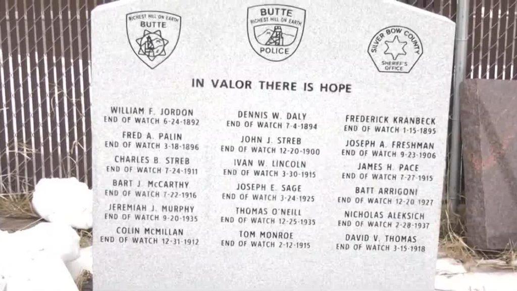 Butte Law Enforcement Memorial