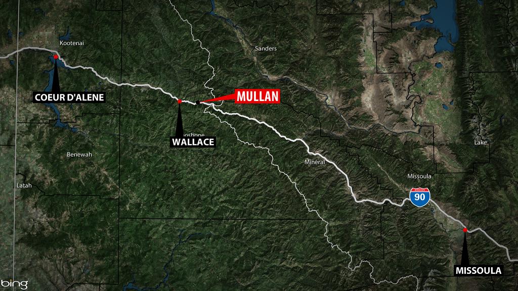 Mullan Idaho Shooting Map