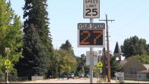 Corvallis Speed Limit Sign