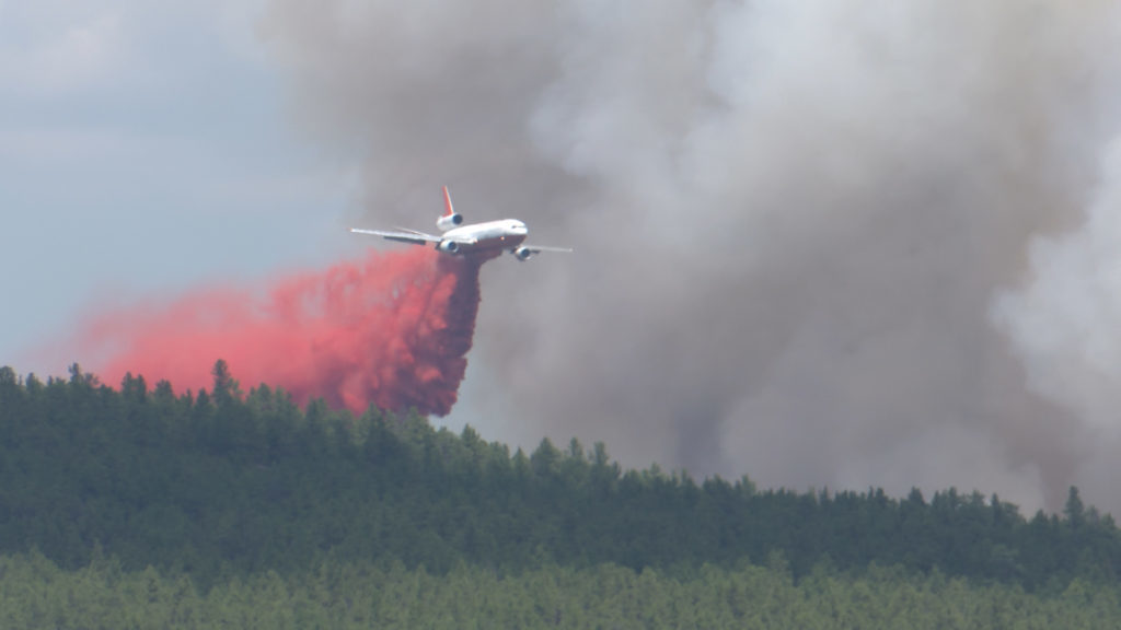 Fire Plane Retardant Drop