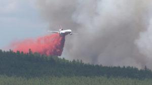 Fire Plane Retardant Drop
