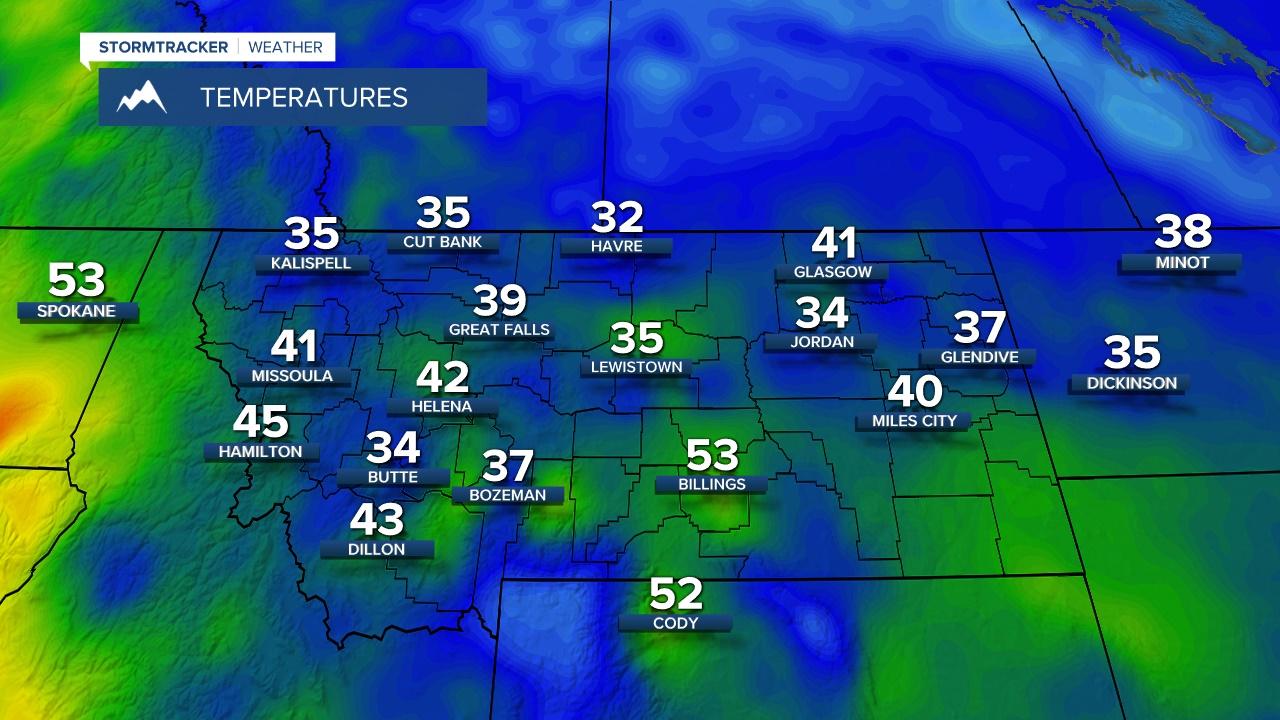 Current Regional Temperatures